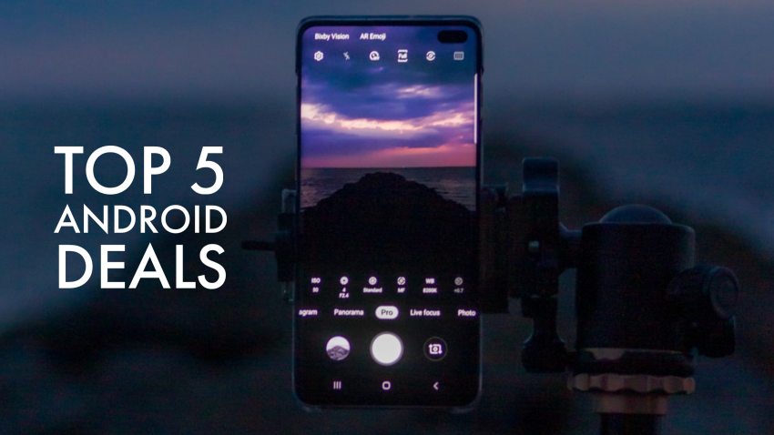 "Picture of an Android phone with the title ""Top 5 Android Deals"""